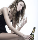 Woman with champagne Royalty Free Stock Photo