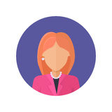 Woman Character Avatar Vector in Flat Design. Royalty Free Stock Photos