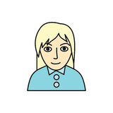 Woman Character Avatar Vector in Flat Design. Stock Photography
