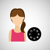 Woman character film reel design. Illustration eps 10 Royalty Free Stock Photo