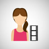 Woman character film strip design. Illustration eps 10 Royalty Free Stock Image
