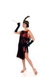 Woman Charleston dress Royalty Free Stock Photo