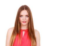 Woman charming girl long hair face makeup Stock Photos