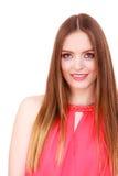 Woman charming girl long hair face makeup Royalty Free Stock Photography