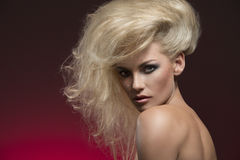 Woman with charming hair-style Stock Photo