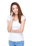 Woman chat on cell phone Royalty Free Stock Photo