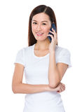 Woman chat on mobile phone Royalty Free Stock Image