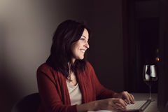 Woman chatting Royalty Free Stock Images