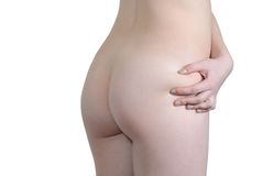 Woman check her ass for cellulitis Royalty Free Stock Photography