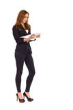 Woman checking documents. Royalty Free Stock Image