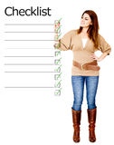 Woman with checklist Stock Photo
