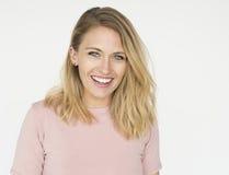 Woman Cheerful Studio Portrait Concept Stock Photos