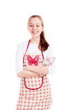 Woman chef in apron  Stock Photos