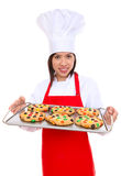Woman Chef with Cookies Stock Images