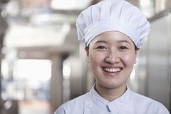 Woman Chef in Her Kitchen Royalty Free Stock Photos