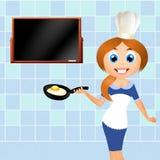 Woman chef royalty free illustration