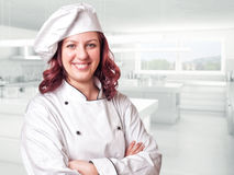 Woman chef Stock Photo