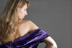 Woman in chemise Stock Image