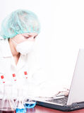 Woman in chemistry lab Royalty Free Stock Photography