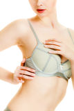 Woman chest in underwear bra lingerie Royalty Free Stock Photo