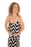 Woman chevon dress stand flex Stock Image