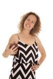 Woman Chevron Dress Football Smile Stock Photos