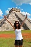 Woman in Chichen Itza Mexico. Yukatan Stock Image
