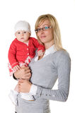 A woman with a child. Royalty Free Stock Image