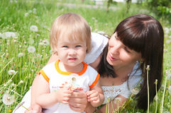 The woman and the child Royalty Free Stock Photo
