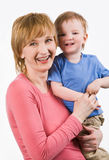 Woman with child Stock Photo