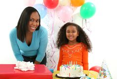 Woman, Child, Birthday stock photo