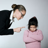 Woman child conflict dipute problems Royalty Free Stock Photography