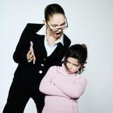 Woman child conflict dispute problems Stock Photos