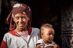 Woman with child, Egypt Stock Image