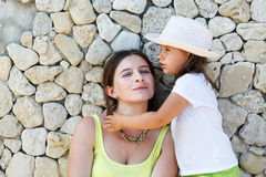 Woman and child girl Royalty Free Stock Photos
