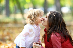 Woman and child having fun Royalty Free Stock Photography