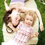 Woman and child having fun Stock Photography