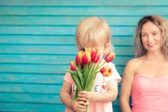 Mother`s day spring holiday concept royalty free stock image