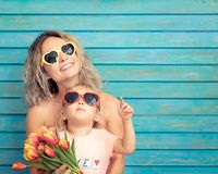 Mother`s day spring holiday concept stock images