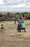 Woman with child  of Masai Mara Stock Image