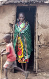 Woman with child  of Masai Mara Royalty Free Stock Photo