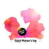 Woman with child for Mother's Day celebration. Stock Image