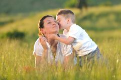 Woman child outdoor Stock Photography