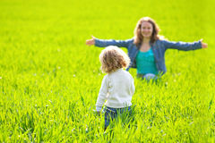 Woman and child playing Royalty Free Stock Images