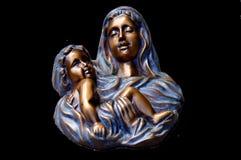Woman, Child, Relief, Art Stock Photo