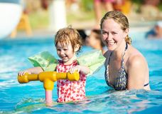 Woman and child in swimming pool Stock Photography