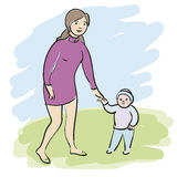 Woman with child Royalty Free Stock Images