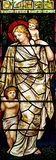 Woman with children in stained glass Royalty Free Stock Images