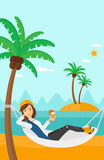 Woman chilling in hammock. Royalty Free Stock Photos
