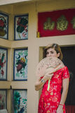 Woman chinese qipao Royalty Free Stock Photography